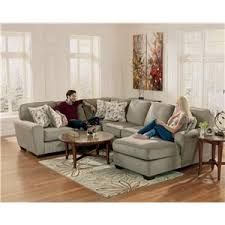 Ashley Chaise Sectional Ashley Furniture Patola Park Patina 4 Piece Sectional With Right