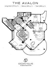 Hangar Home Floor Plans Ocean Villas Daytona Beach Shores Luxury Oceanfront Condos For Sale