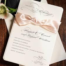 Wedding Invitations With Ribbon Pink Wedding Invitations With Ribbon Elite Wedding Looks