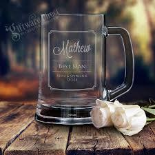 Engraved Groomsmen Gifts Personalised Engraved Beer Mug Wedding Glass Stein For Groomsman