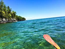 kayaking lake michigan caves in wisconsin u0027s door county the