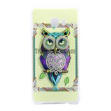 tpu back cover case for samsung galaxy c7 owl