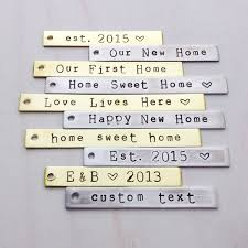 home ornament custom sted wedding skeleton key