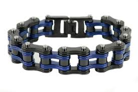 black chain bracelet images Motorcycle bike chain bracelets biker jewelry wholesale stainless jpg