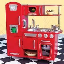 Kidkraft Kitchen Red - kidkraft grand gourmet corner wooden kitchen play set with 4 piece
