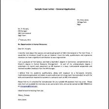 Cover Letter For Human Resource Assistant Amazing Generic Cover Letter Sample U2013 Letter Format Writing