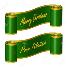 ribbon with words ribbon in green colour with words â merry christmas pour
