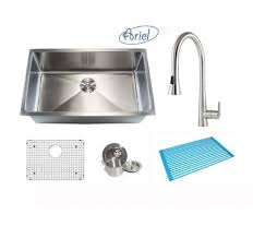 kitchen sink faucet combo 30 inch zero radius stainless steel undermount single bowl kitchen