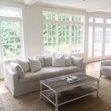 neutral living room coastal restoration hardware industrial