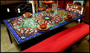 Mosaic Table L Dining Room Table Familyservicesuk Org