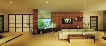 decor wall mount tv with whitesnow sofa and brick pillar for