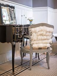 Vanity Stools And Chairs Embellish A Vanity Chair With Feathers Hgtv