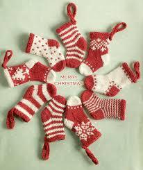 mini christmas stocking ornament knitting pattern by julie williams