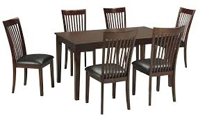 7 piece dining room set signature design by ashley mallenton mission style 7 piece dining