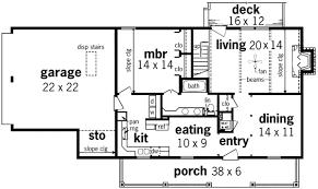 Saltbox House Floor Plans New England Salt Box 55094br Architectural Designs House Plans