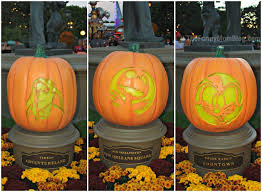 disney character pumpkin carvings at disneyland resort the funny