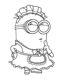 the minion character and boy coloring pages despicable me