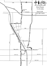 Shortest Route Map by Volunteer For The Ride