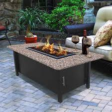 electric fire pit table carmel chat height fire pit table with rectangle granite top coc