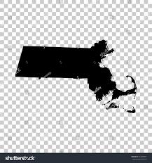 Massachusetts Map Massachusetts Map Isolated On Transparent Background Stock Vector