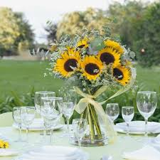 sunflower centerpiece yellow primary weddingflowers sunflower centerpiece medium