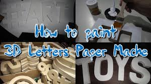 paper mache ideas for home decor diy how to paint 3d letters standee paper mache for weddings