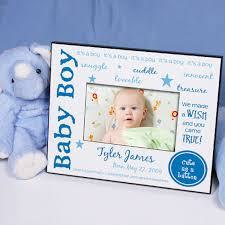 personalization baby gifts personalized baby boy picture frame we made a wish