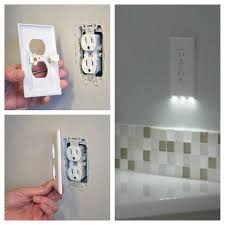 night light outlet cover this outlet cover is also a nightlight genius pics