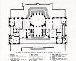 chateau de vaux le vicomte ground floor plan architectural