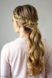 homecoming hair braids instructions fishtail embellished ponytail