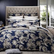 alexandra navy quilt cover set by private collection quilt cover