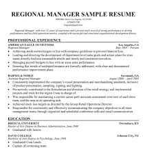 Resume Templates Retail Regional Manager Resume Examples Resume Example And Free Resume