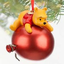 ornament pooh 1997 dated glass christborn