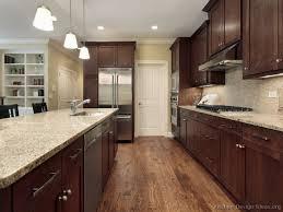 pictures of kitchens with dark cabinets dark walnut cabinets