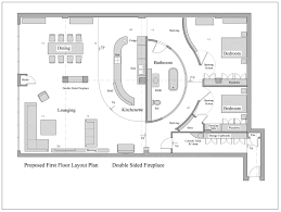 proposed floor plan for a loft apartment love the curved open