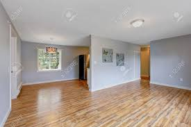light blue laminate flooring empty house interior with light blue walls hardwood floor and