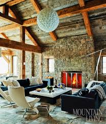 Mid Century Style Home Midcentury Style In A Rustic Montana Home
