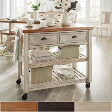 kitchen portable islands eleanor two tone rolling kitchen island by inspire q classic