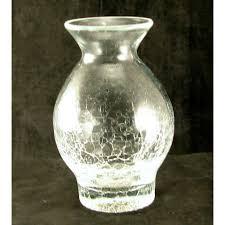 Blenko Vase Blenko Glass Crystal Crackle 5 Inch Vase