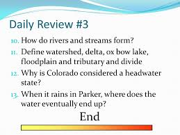 Define Water Table Daily Review 2 6 What Two Factors Affect Groundwater 7 How