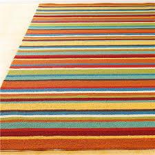 4 X 6 Outdoor Rug Colorful Stripe Hooked Indoor Outdoor Rug Indoor Outdoor