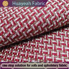 Red Plaid Upholstery Fabric Sofa Fabric Upholstery Fabric Curtain Fabric Manufacturer Linen
