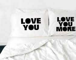 his and hers bed set wedding gift couples pillow cases my side your side his and