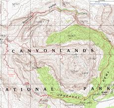 Utah Map National Parks by Topographic Map Of The Syncline Loop Trail Island In The Sky