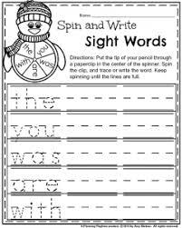 kindergarten worksheets words january kindergarten worksheets
