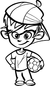 soccer player boy kid coloring wecoloringpage