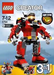 light brick sets creator 5764 rescue robot amazon co uk toys games