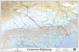 Louisiana Highway Map Cameron Highway Oil Pipeline System Map