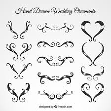 wedding ornaments collection vector free