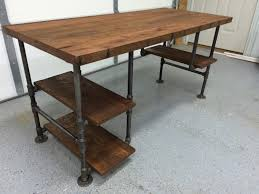 Diy Pipe Desk by Computer Desk Reclaimed Wood Desk Office Desk Table Rustic